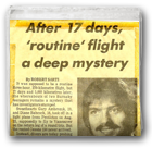 After 17 days, 'routine' flight a deep mystery