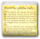 Hunt for plane fails