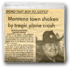 Montana town shaken by tragic plane crash