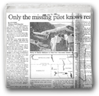 Only the missing pilot knows reason for fatal flight