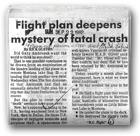 Flight plan deepens mystery of fatal crash