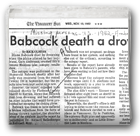 Babcock death a drowning