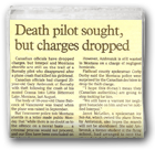 Death pilot sought, but charges dropped