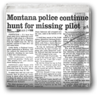 Montana police continue hunt for missing pilot