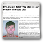 B.C. man in fatal 1982 plane crash scheme changes plea