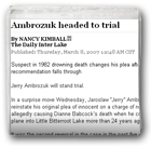 Ambrozuk headed to trial