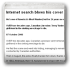 Internet search blows his cover