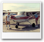 Jarek age 19 inspecting Cessna C-150 with Tom Pawlowski and his dad