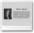 1981 John Oliver High School Grad book photo of Dianne Kathryn Babcock