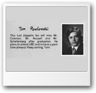 1981 John Oliver High School Grad book photo of Tom Pawlowski