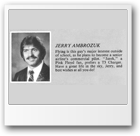 1982 John Oliver High School Grad book photo of Jarek (Jerry) Ambrozuk